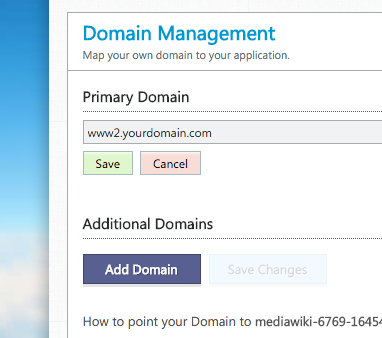 Cloudways primary domain